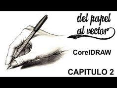 CorelDRAW, Vectorizar dibujo herramienta B-Spline X6, X7 @ADNDC @adanJP - YouTube