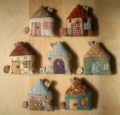 House Tape Measures by PatchworkPottery, via Flickr