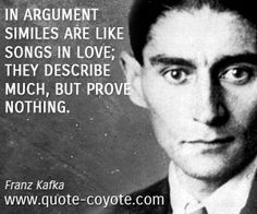 In argument similes are like songs in love; they describe much, but prove nothing.