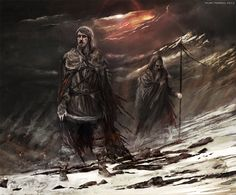 Mance was a wildling child taken by the Night's Watch and raised as one of them. He was a loyal member of the Night's Watch for most of his life until he suffered an injury while ranging, and was healed by a wildling woman. While he recuperated, she mended his torn cloak with swatches of red fabric. Upon returning to the Wall, the Night's Watch commanders required him to replace his mended cloak with one of uniform black.