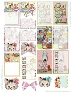 Free Printable Vintage Ballet Planner Stickers from Victoria Thatcher