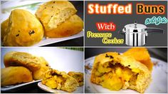 Stuffed Buns in Pressure Cooker - in Tamil Bread Dishes, Types Of Bread, Buns, Bread Recipes, Cooker, Oven, Muffin, English Channel, Breakfast