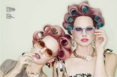 Girls with hair rollers #vintage..Yes this is what I looked like when we met!