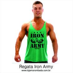 Regata Iron Army. Veja mais em nosso site! Loja Marombada f4d2a87e163a6