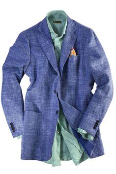 Kiton silk/wool/linen sport coat