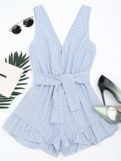 Back to school, back to saving! Free shipping worldwide! Plunging Neck Belted Striped Romper. Zaful,zaful.com,bottoms,jumpsuits,rompers,playsuit,romper,jumpsuit,playsuits,jumpsuits and rompers,jumpsuits for women,jumpsuits casual,jumpsuits outfits,jumpsuits for teens,rompers women,rompers for teens,rompers women outfit,rompers outfit,rompers for teens summer,rompers summer,playsuits,playsuit outfit,playsuit pattern. @zaful Extra 10% OFF Code:ZF2017