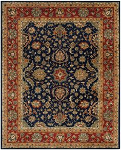 Meticulously crafted of premium wool pile, intricately patterned English Manor rugs are derived from time-honored Persian carpet designs. Beautifully detailed with quality hand-tufting, these rugs inflect a room with an air of classic old world...