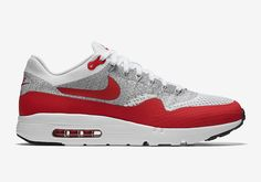 Sport Red Highlights The Nike Air Max 1 Flyknit Ultra