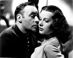 "Charles Boyer and Hedy Lamarr in a publicity photo for ""Algiers"", 1938."