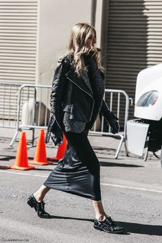 STREET STYLE NYFW, layers, black and grey