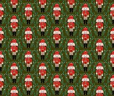 Nutcracker Fabric  Nutcracker  Nutcracker Ballet Xmas Holiday Xmas Christmas Fabric Red and Green Holiday Design by Andrea Lauren  Printed on Organic Cotton Knit Fabric by the Yard >>> More info could be found at the image url.