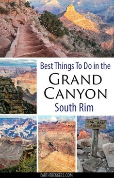 Grand Canyon: best things to do on the South Rim. Best hikes, best viewpoints, how to hike the Bright Angel and South Kaibab trails, with itinerary ideas. grandcanyon nationalpark familytravel adventuretravel via @ 243616661081481325 Grand Canyon Arizona, Grand Canyon Hiking, Grand Canyon Vacation, Grand Canyon Village, Visiting The Grand Canyon, Grand Canyon South Rim, Grand Canyon Park, Grand Canyon In March, Grand Canyon Nevada