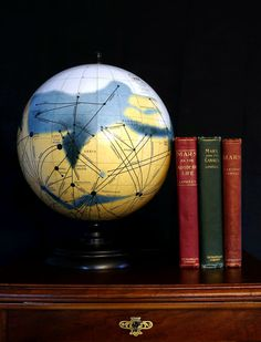 Mars Globe, Mars and Its Canals based on the map by Percival Lowell ****** THIS IS A LIMITED EDITION BEARING THE NUMBER 10 OF 250 ******  This