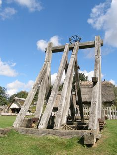 The Catapult. A medieval siege weapon.