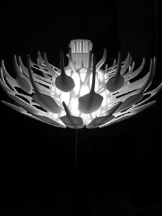Whimsical furniture design isn't always the most aesthetically pleasing. 3d Printing, Whimsical, Furniture Design, Bloom, Real Estate, Ceiling Lights, Trends, Black And White, Printed