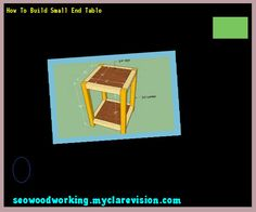 Small End Table Woodworking Plans 092534 Woodworking Plans and