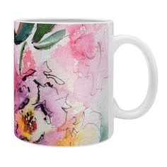 Ginette Fine Art Pink Camellias Coffee Mug | DENY Designs Home Accessories  @denydesigns #Designs #Home #Accessories
