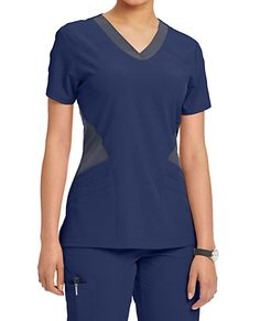 The Barco One Mesh Inset Scrub Top includes roomy pockets and perforated front and back panels. Shop for it at Scrubs & Beyond. Cute Scrubs, Scrubs Uniform, Bodice Pattern, Medical Uniforms, Medical Scrubs, Nursing Clothes, Scrub Tops, Rain Wear, Caregiver