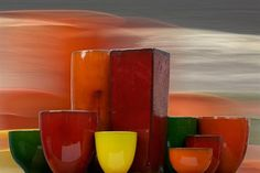 Gallery of Atomic Glazed Pots in various landscapes. Bold Colors, Colours, Pots, Gallery, How To Make, Inspiration, Biblical Inspiration, Bright Colours, Roof Rack