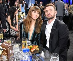 Jessica Biel and Justin Timberlake attend the 22nd Annual Critics' Choice Awards.