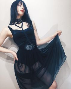 """""""If your body hurts and you cannot move go dance until it hurts some more."""" #alternative #altmodel #hurt #goth #gothic #allblackeverything #grunge #dress #leotard #bodyharness #fashion #model #la #sf #brunette #dark #gothgirl #dancing #pale #bodycon #nastygal #motelrocks #hollywood #sfo #leather #lipstick #ootd"""