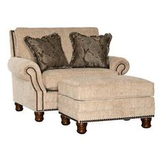 Chelsea Home Furniture Templeton Upholstered Ottoman - 395610F50-O-AW