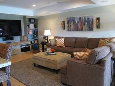 Sarah's downstairs game room is really where our relationship began. As a mother of tween twins Sarah wanted to create a space for them to entertain. We helped her find the right fabrics to pull the space together.