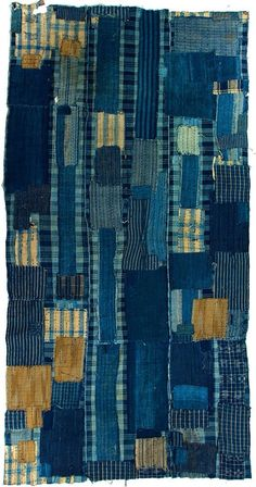 Japanese Indigo Boro. Japan's mended and patched textiles are referred to as Boro. Boro is usually sewn from nineteenth and early twentieth century diverse rags and patches of indigo dyed cotton.