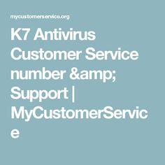 K7 Antivirus Customer Service number & Support | MyCustomerService
