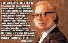 Isaac Asimov, my thoughts exactly.