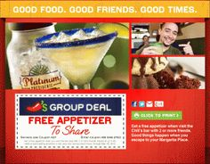 Free Appetizer at Chili's!
