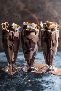 Salted Pretzel Nutella Fudge Milkshake with Malted Milk Whipped Cream | via Tumblr