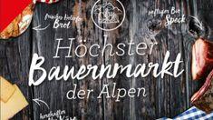 Besuch den höchsten Bauernmarkt der Alpen auf der Planai #planai #schladming #bauernmarkt Planer, Chalkboard Quotes, Art Quotes, Signs, Farmers Market Display, Alps, Novelty Signs, Sign, Dishes