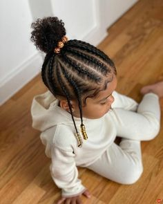 Afro Hairstyles For Kids, Black Baby Girl Hairstyles, Little Girls Natural Hairstyles, Toddler Braided Hairstyles, Black Children Hairstyles, Mixed Baby Hairstyles, Childrens Hairstyles, Little Girl Braids, Braids For Kids