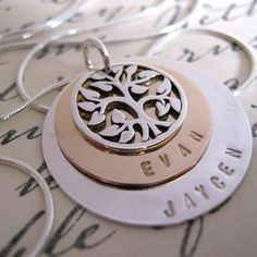 WANT! Family Tree hand stamped by JLynnCreations