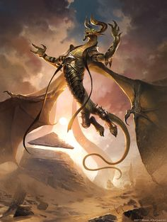 Nicol Bolas, the Deceiver  1 - Hour of Devastation MtG Art
