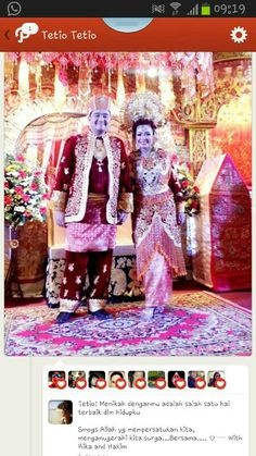 West Sumatra wedding dress, indonesia