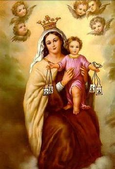 Aparição de Nossa Senhora do Carmo na Inglaterra a São Simão Stock, A Virgem do Escapulário do Carmo em 16 de Julho, Escapulário verde, Consagração à Santíssima Virgem do Carmo