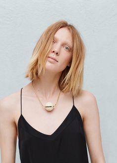 Ожерелье с кулоном из камней -  Женская | MANGO МАНГО Россия (Российская Федерация)