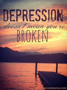 Depression lives quietly among us. And in the aftermath of suicide we hear critical judgments about choice and whispered conclusions about death. How depression doesn't make you broken, but rather brings you to light.