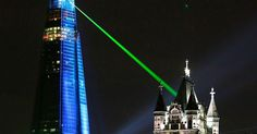 Crowds watch as laser lights shine from The Shard over Tower Bridge on July 5, 2012 (1200×630)