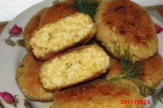 Kotlety jajeczne Cornbread, Food Inspiration, Baked Potato, French Toast, Muffin, Healthy Eating, Vegetarian, Meat, Chicken