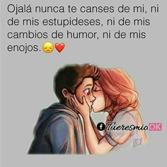 Por favor que eso nunca pase mi amor Sad Love, Cute Love, I Love You, Amor Quotes, Life Quotes, Qoutes, Ex Amor, Frases Love, Quotes En Espanol