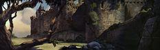 Concept art -landscape- Disney's Snow White