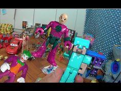 Minecraft Steve Armadura Diamante Aldeão X Coringa Lex Luthor Imaginext ... #minecraft #steve #creeper #enderman  #game #jogo #play #ps4 #xbox #xboxone #toys #toys #おもちゃ  #dolls #doll #kids #kids  #puppet #lego #imaginext #marvel #DC #Comics #escola #school #educação #education #kid #kids #lol #usa