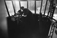 The Hindenburg's control and navigation rooms were housed in a cabin under the ship. This is a view of the Hindenburg's cockpit.