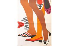 Vintage Poster - Hungarian Footwear Poster, C. 1960 - Fashion - Shoes - on OneKingsLane.com