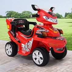 JAXPETY Red Kids Ride On ATV Quad 4 Wheel Electric Toy Car 6V Battery Power with Remote * Visit the image link more details. Note:It is affiliate link to Amazon.