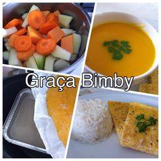 Cozinhar em pirâmide - 3 em 1    Creme de legumes no copo, arroz basmati e omeleta de fiambre na varoma.  Para 4 pessoas       Ingrediente:...