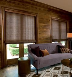 Bring nature indoors for a rustic yet modern look. Woven wood textures combined with vanilla scented candles is sure to leave your home looking fresh. Window Coverings, Window Treatments, Woven Wood Shades, Bamboo Shades, Shades Blinds, Wood Blinds, Blinds For Windows, My New Room, Home Look
